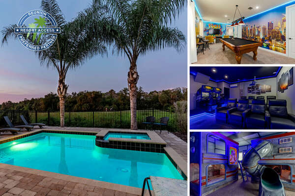 Welcome to Magical Hideaway a 3,300+ sq. ft. vacation rental with a private pool overlooking the golf course | PHOTOS TAKEN: OCT. 2020