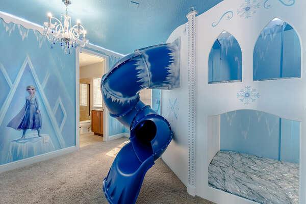 Ice castle-inspired kids bedroom