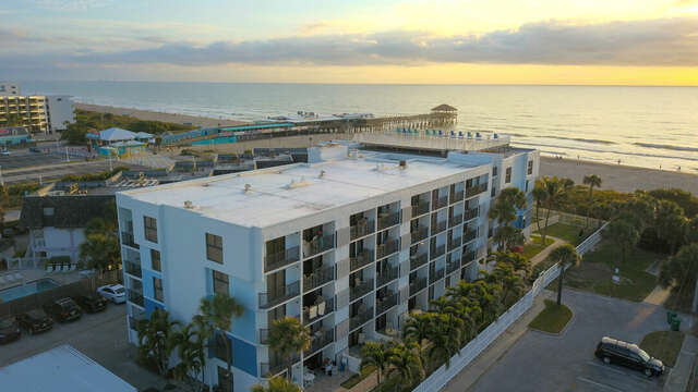 Situated steps from the beach and Cocoa Beach pier, this building has spectacular views and is in an A+ location.