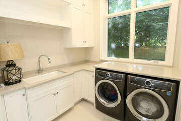 Laundry room on first floor.  Additional washer/dryer on second level.