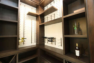 Wine Room by dining area - attached to built in bar.