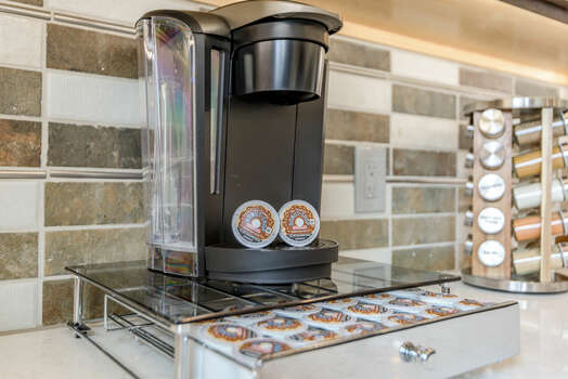 Keurig Coffee Maker (Initial K-cups Provided) and Spices