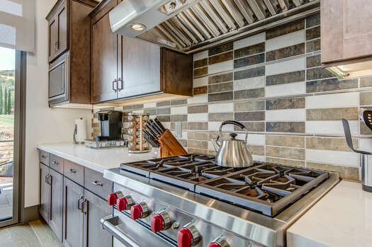 Stainless Steel Appliances, Including a Wolf Gas Range with Convection Oven