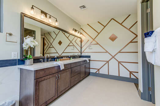 Master Bath with Dual Stone Counter Sinks