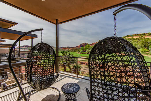 Enjoy the Fresh Air and Views from the Master Bedroom Private Balcony
