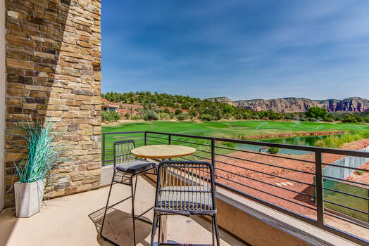 Private Balcony with Golf Course and Red Rock Views