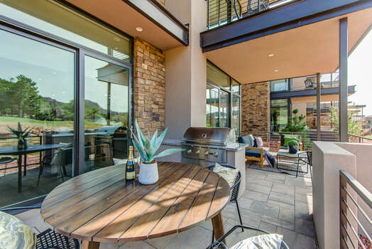Patio with Outdoor Dining and BBQ