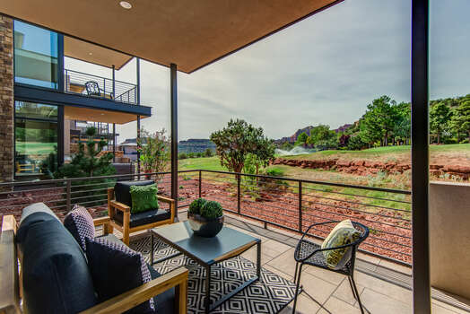 Private Patio That Overlooks the Golf Course with Peaceful Views