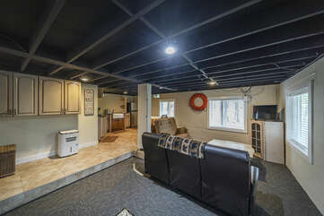 Lower Level , Game / Family Room with Kitchen