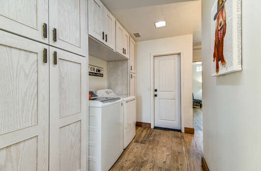 Laundry Area with Full-size Washer and Dryer