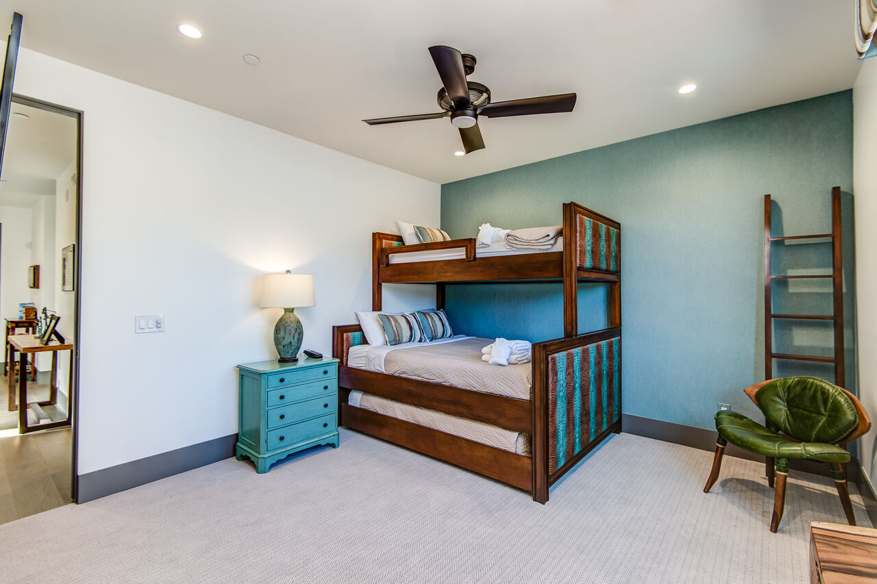 Bedroom 3 - Bunk Room with XL Twin over Queen Bunk Beds with a Twin Trundle, 55