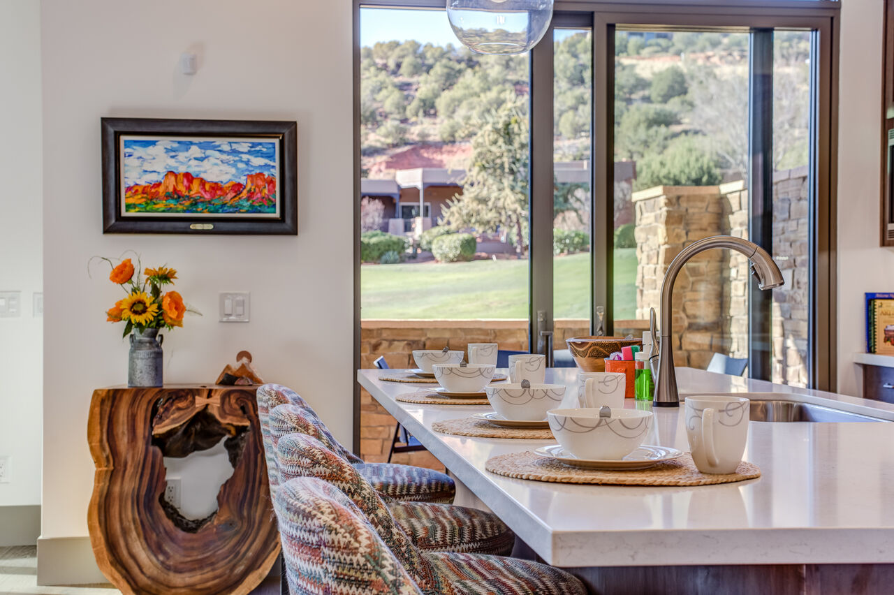 Enjoy the Views While Gathering at the Island or Preparing a Meal