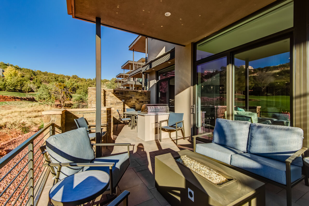 Patio with Comfortable Seating