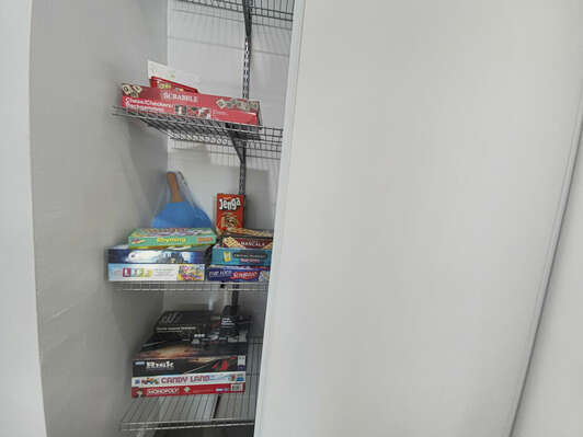Hallway Closet with Board Games