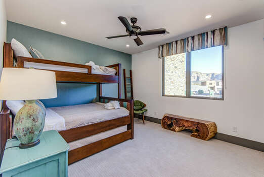 Bedroom 3 - Bunk Room with XL Twin over Queen Bunk Beds with a Twin Trundle