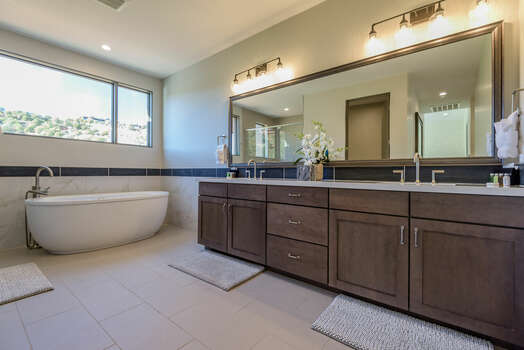 En Suite Master Bath with Dual Stone Counter Sinks