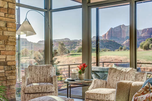 Patio Access with Golf Course and Mountain Views