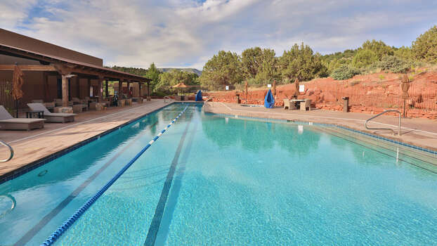 Heated Pool with Lap Lanes Open Year-round. No Hot Tub