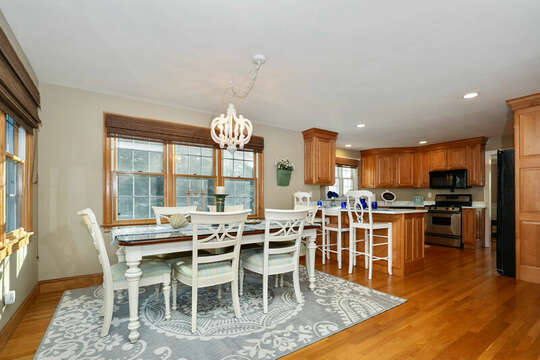 Open living - dining area opens to both kitchen and great room - 1 Somerset Road Harwich Cape Cod - New England Vacation Rentals