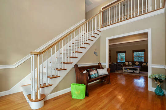 Stairs to upper level bedrooms and entrance to great room - 1 Somerset Road Harwich Cape Cod - New England Vacation Rentals
