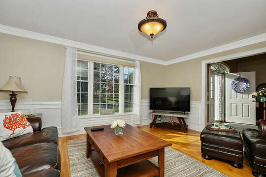 TV in Den for Sunday football games - 1 Somerset Road Harwich Cape Cod - New England Vacation Rentals