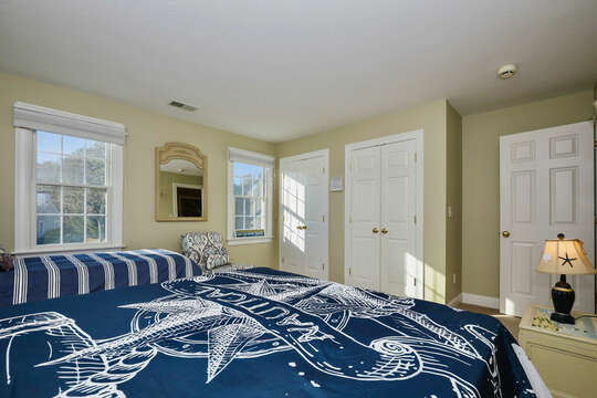 Queen and twin beds with plenty of closet space - 1 Somerset Road Harwich Cape Cod - New England Vacation Rentals
