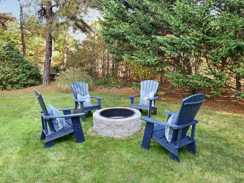 Fire pit for roasting marshmallows and early evening cocktails -  1 Somerset Road Harwich Cape Cod - New England Vacation Rentals