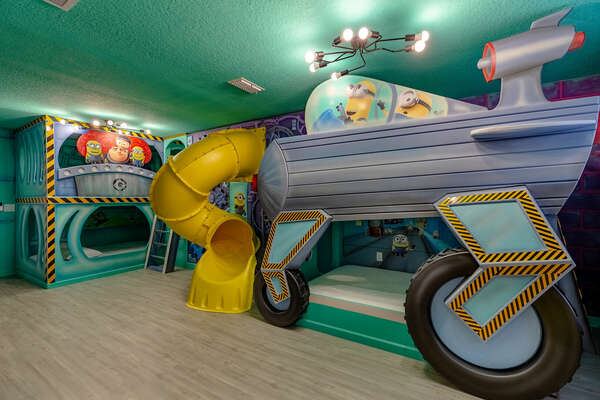 The little ones can get lost in a world of mayhem with their favorite characters in this awesome kids bedroom