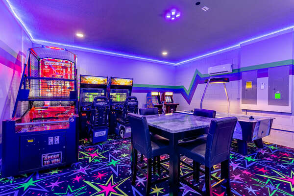 Challenge your family to hours of games inside your own arcade room