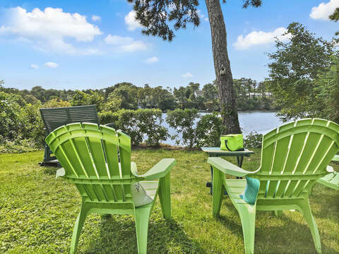 View of Joseph's Pond from the back yard - 35 Vacation Lane Harwich Cape Cod - New England Vacation Rentals