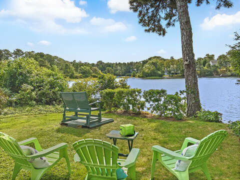 Access to pond from backyard of - 35 Vacation Lane Harwich Cape Cod - New England Vacation Rentals