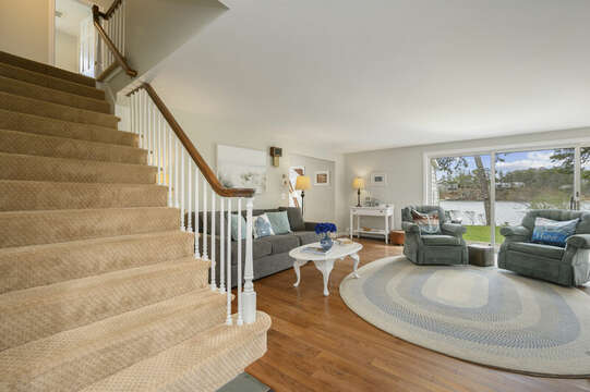 Back to main entrance for stairs to upper level - 35 Vacation Lane Harwich Cape Cod - New England Vacation Rentals