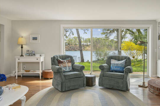 Just swivel those chairs around for the best view - 35 Vacation Lane Harwich Cape Cod - New England Vacation Rentals