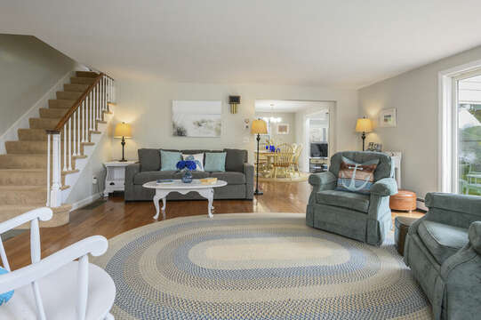 Continue from living room into kitchen, dining area and run room - 35 Vacation Lane Harwich Cape Cod - New England Vacation Rentals