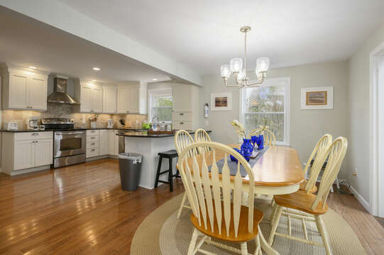 Dining area with open kitchen - 35 Vacation Lane Harwich Cape Cod - New England Vacation Rentals