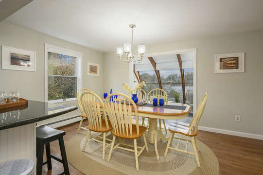 Dining area seating for 6 - 35 Vacation Lane Harwich Cape Cod - New England Vacation Rentals