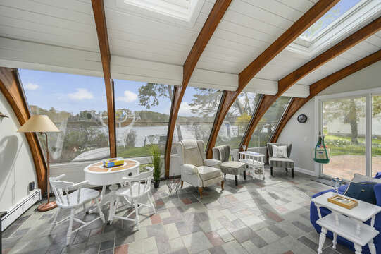 Amazing curved ceiling sun room with all the views! - 35 Vacation Lane Harwich Cape Cod - New England Vacation Rentals