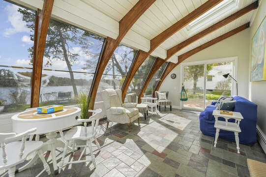 Unique curved ceiling sunroom - 35 Vacation Lane Harwich Cape Cod - New England Vacation Rentals