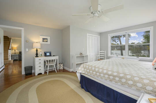 Main floor king master opens to living room - 35 Vacation Lane Harwich Cape Cod - New England Vacation Rentals