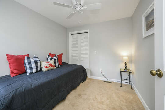 Bedroom #1 - Twin trundle - Sleeps 2, perfect for kids! - 35 Vacation Lane Harwich Cape Cod - New England Vacation Rentals
