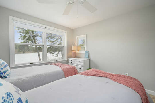 Bedroom #4 - Twin Beds - 35 Vacation Lane Harwich Cape Cod - New England Vacation Rentals