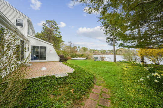 Backyard patio view (will have outdoor furniture) - 35 Vacation Lane Harwich Cape Cod - New England Vacation Rentals