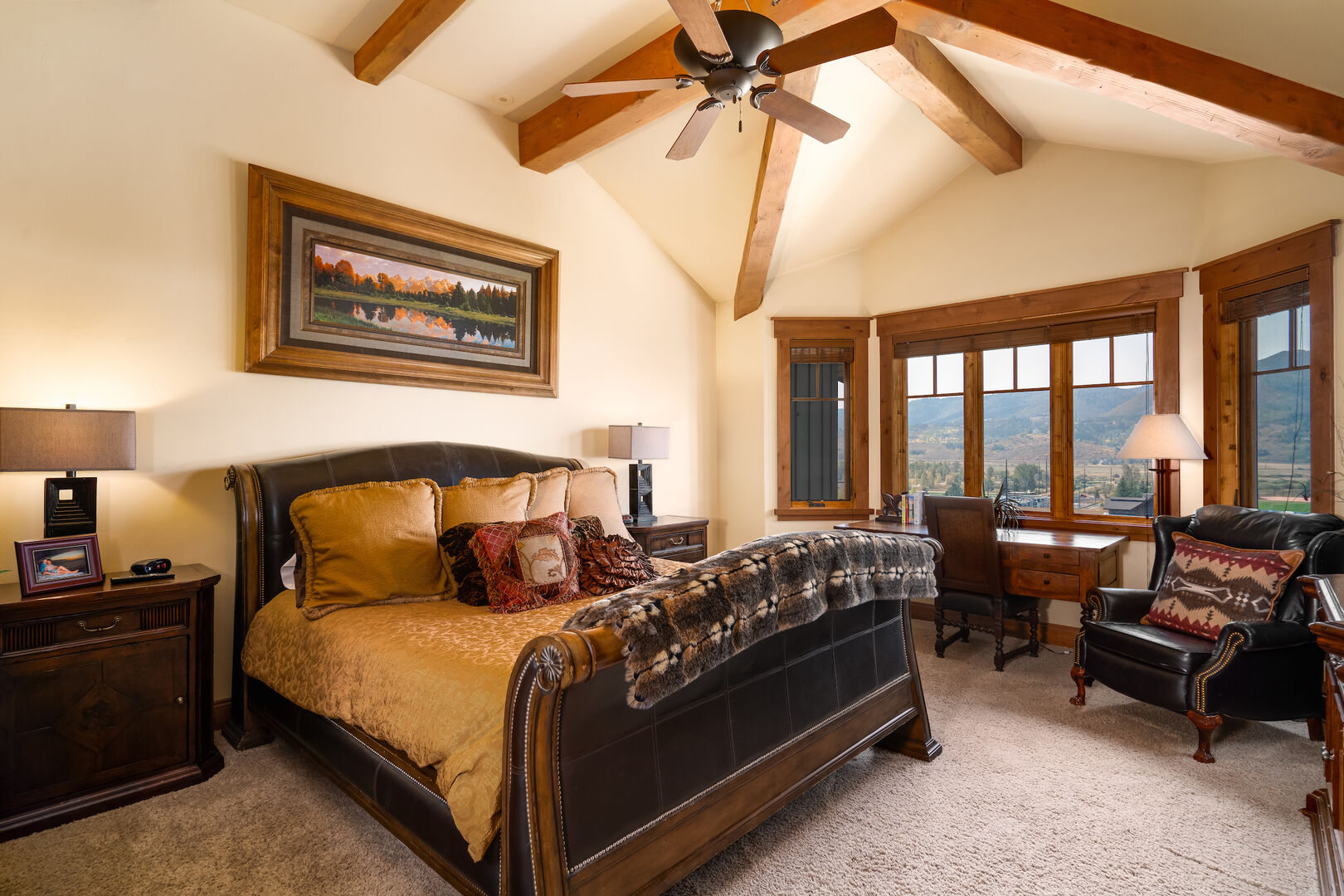 Master bedroom with spectacular views!