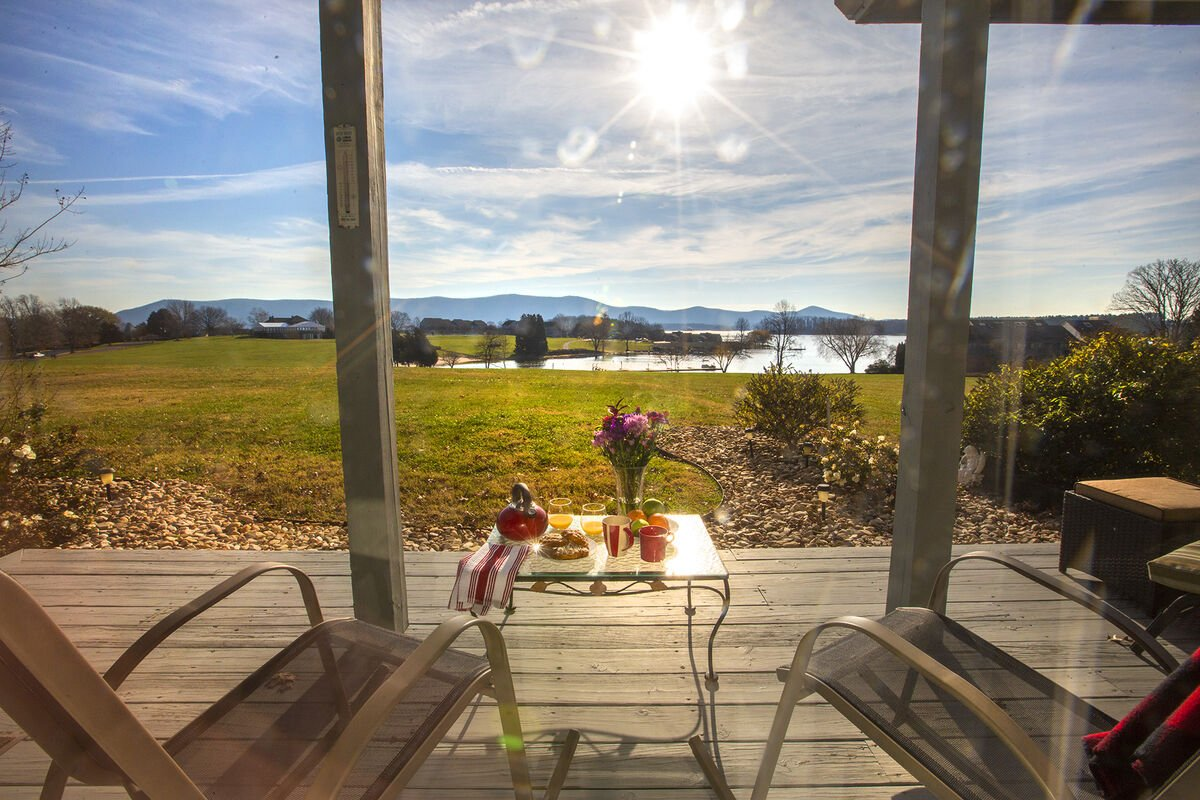 Breakfast on the Lake , with this View on your private Deck