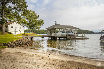 Your Private Large Sand Beach and Dock