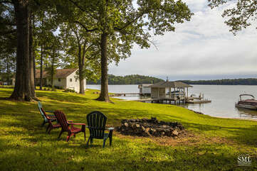 Flat Lot, wide water Views and Firepit
