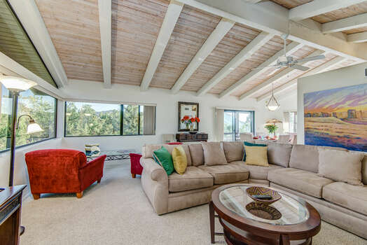 Open and Bright Floor Plan with Vaulted Ceilings