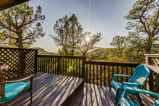 Watch the Sunset From the Private Deck off the Master Bath