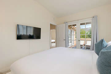 In bedroom two, you will find a Smart TV with streaming applications.