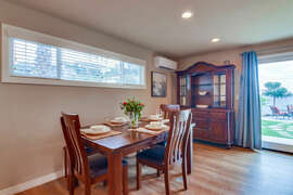 Once in the house you will see our new dining setting with ample seating.